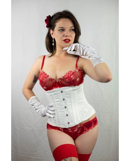 "corset sous buste ""ELVIRA"" blanc"