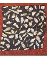 gavroche plume noir 48 cm x 48 cm