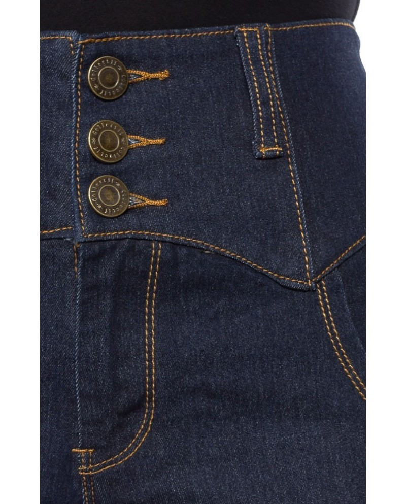 "jean ""rebel kate"" taille haute COLLECTF (navy ou black)"
